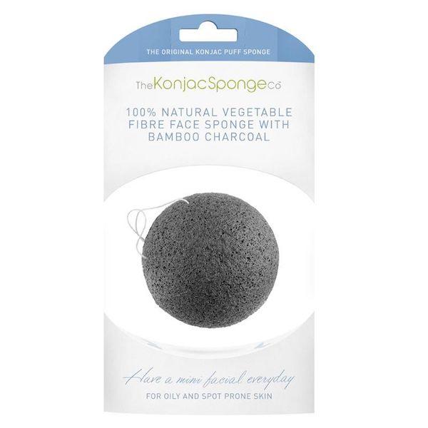 The Konjac Sponge Company Konjac Gezicht Puff Sponge Bamboo Charcoal